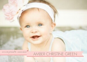 Baby Banner - Pink
