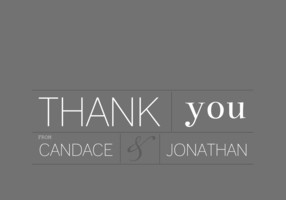 Modern Type Thank You