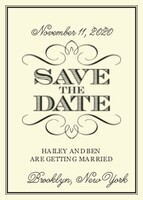 Classic Flourish Save the Date
