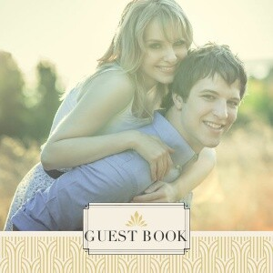 Art Deco Guest Book