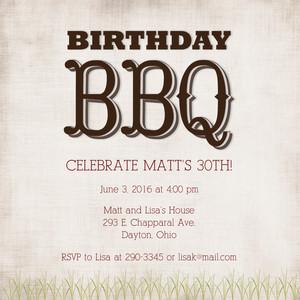 Birthday BBQ Celebration
