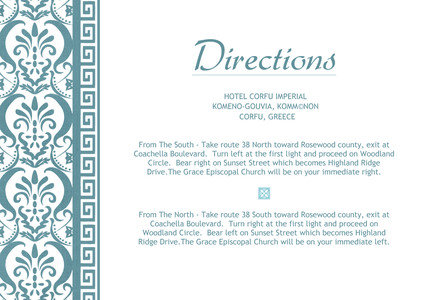 Greek Inspired - Directions