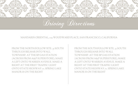 Damask Accent Directions