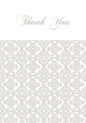 Damask Accent Thank You
