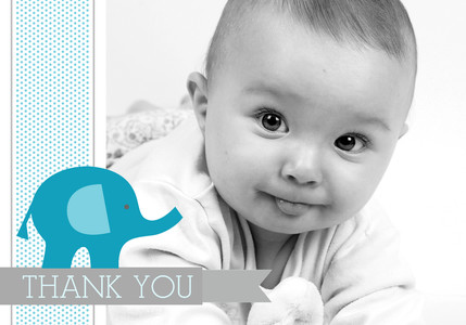 Baby Thank You - Baby Blue Elephant by Mixbook