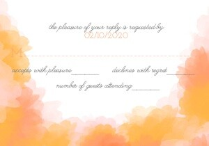 Watercolor Elegance RSVP