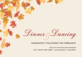 Elegant Autumn Reception