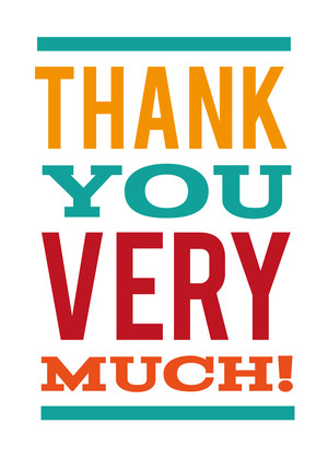 Thank You Greeting Cards Thank You Very Much By Mixbook