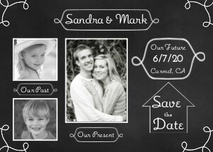 Save the Date Cards - Past - Present - Future by Mixbook
