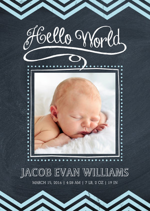 Chalkboard Boy Announcement