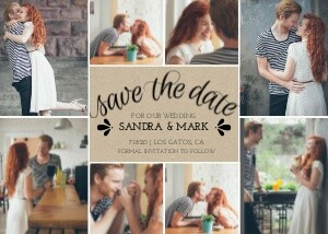 Save the Date Cards - Kraft Paper Collage by Mixbook