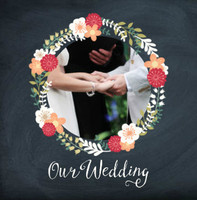 Floral Chalkboard Wedding
