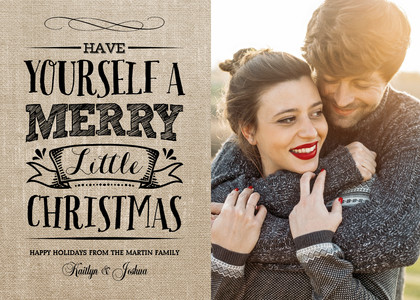 Merry Little Christmas on Burlap