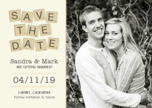 Save the Date Cards - Scrabble Pieces by Mixbook