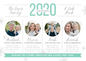 Holiday Photo Cards - Mod Year in Review Christmas card