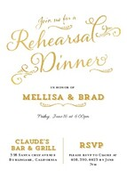 Rehearsal Dinner Gold Mixed Type