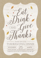 Eat, Drink, & Give Thanks