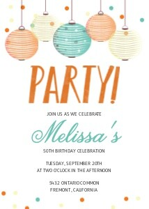 Lanterns Birthday Invite
