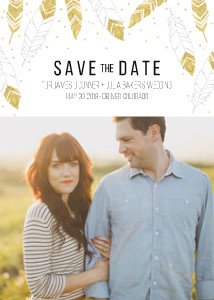 Feathered Save the Date
