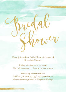 Soft Watercolor Bridal Shower