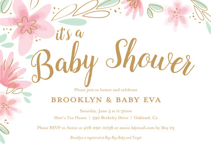 Light Floral Baby Shower