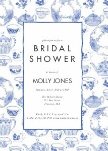 China Blue Bridal Shower by Molly Hatch