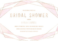 Geometric Metallic Bridal Shower