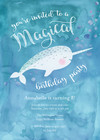 Magical Narwhal Birthday by Pennie Post
