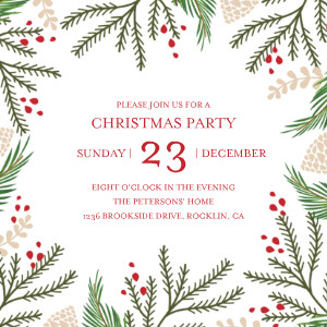 Christmas Foliage Party