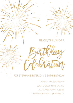 Sparkler Birthday Invitation