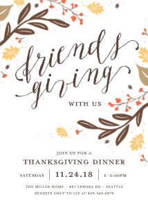 thanksgiving cards friendsgiving invitation by mixbook