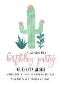 Sweet Cactus Birthday