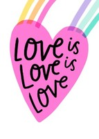 Love is Love Friendship Card by Hello!Lucky