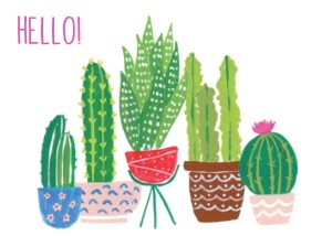 Cactus Stationery by Black Lamb Studio