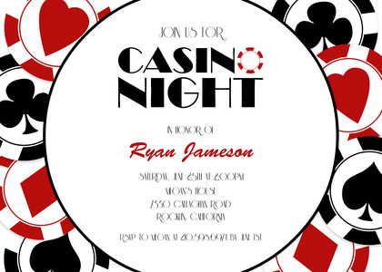 Birthday Party Invitations Casino Party by Mixbook – Casino Birthday Party Invitations
