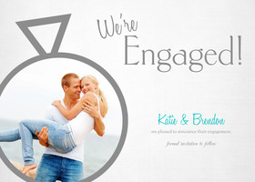 engagement announcement cards  Custom Engagement Announcements Cards with Your Own Photos | Mixbook