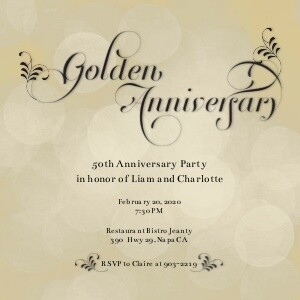 Anniversary Invitations - Golden Anniversary by Mixbook